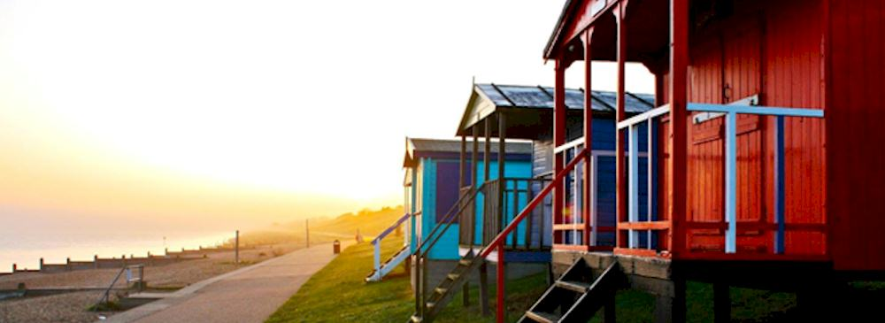 library photo of beach chalets